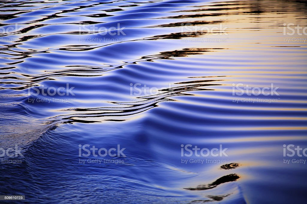 Ripples In The Wake stock photo
