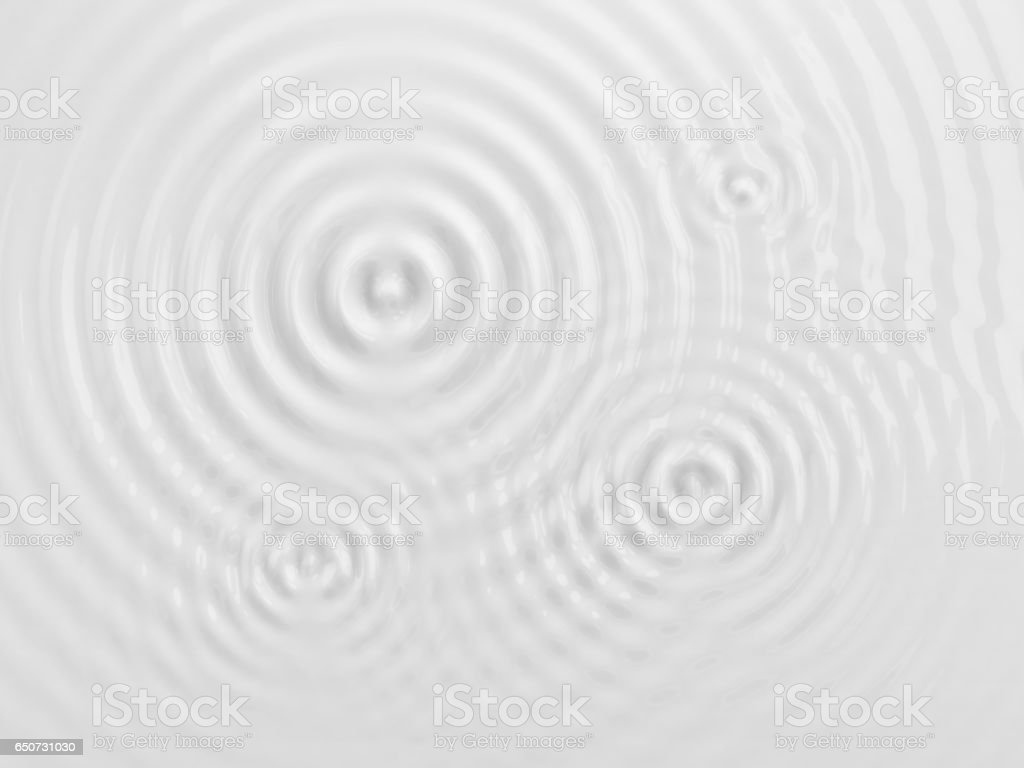 Ripples on a white background. stock photo