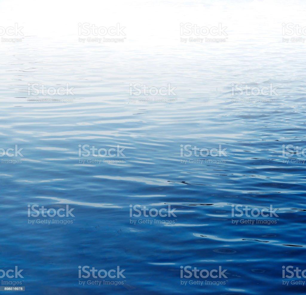Wellen am blauen Wasser Oberfläche - Lizenzfrei Abstrakt Stock-Foto