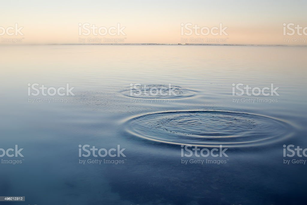 Ripples on the tide stock photo