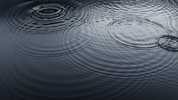 Ripples on Water Surface stock photo