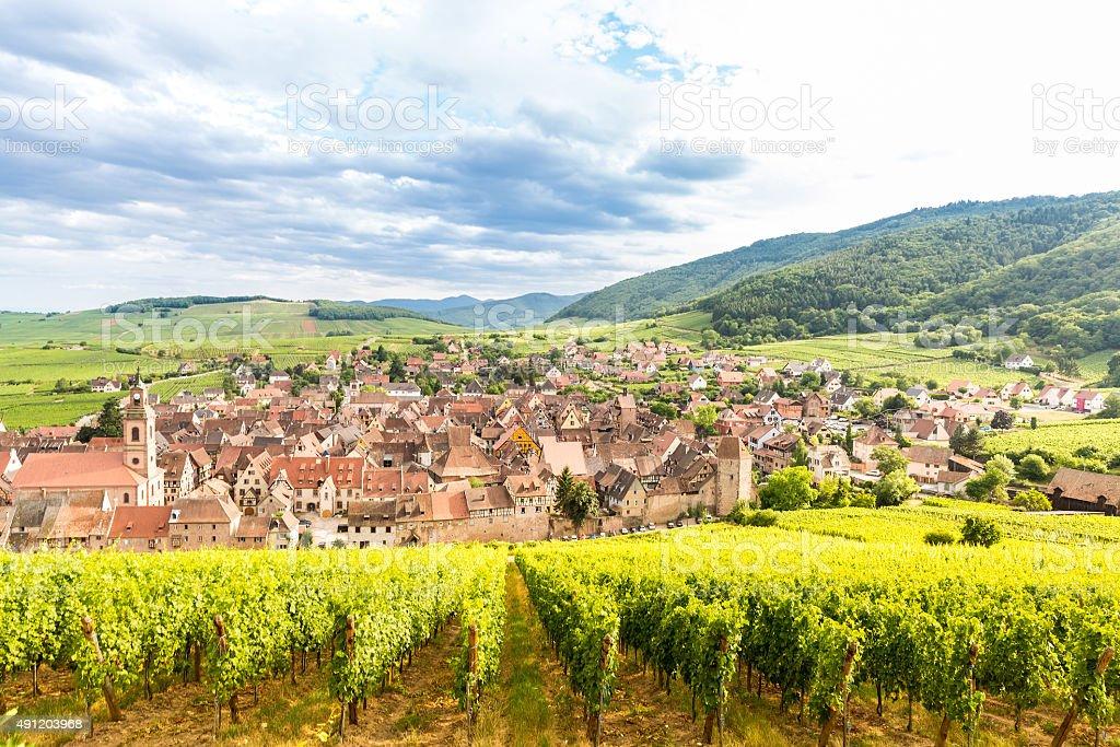 Riquewihr Alsazia, Francia - foto stock