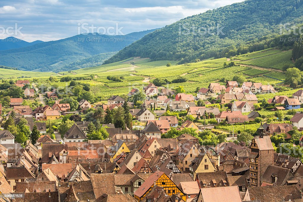 Riquewihr Alsace France royalty-free stock photo