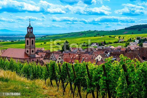 925850210 istock photo Riquewihr Village on Sunset, Alsace, France 1134784994