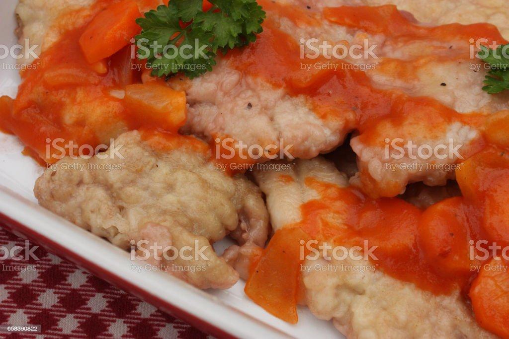 Ris de veau - Cuisine gastronomique française stock photo