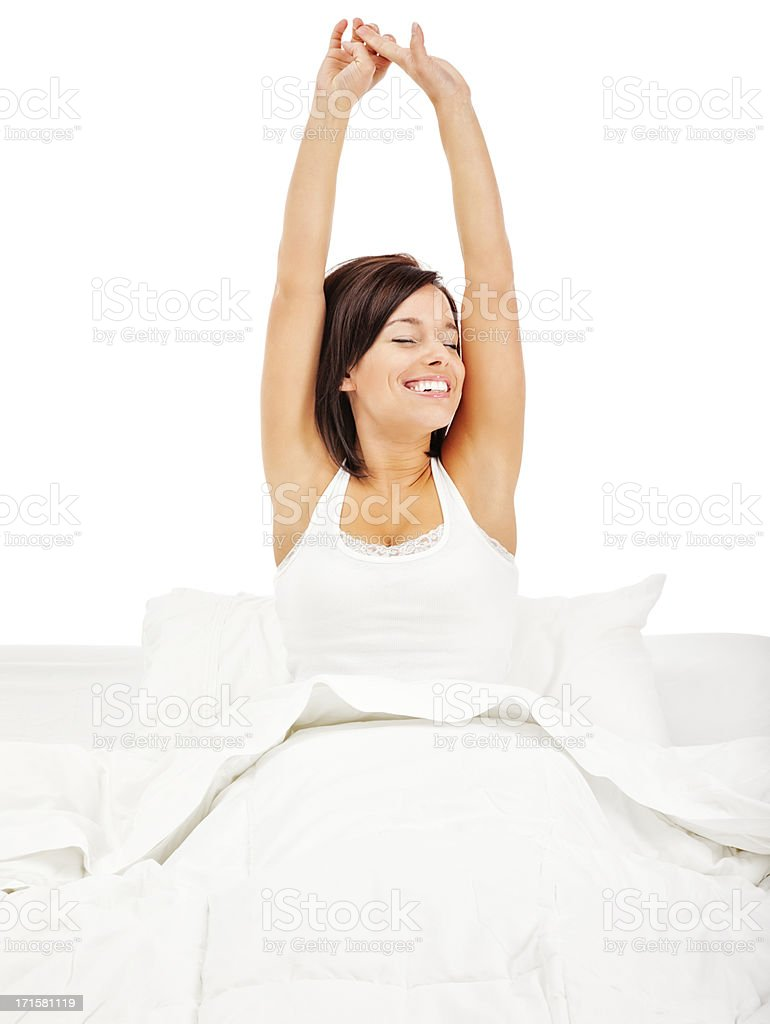 Rise and Shine: Morning Stretch stock photo