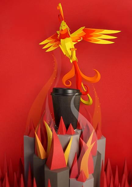 Rise Like a Phoenix - foto de stock