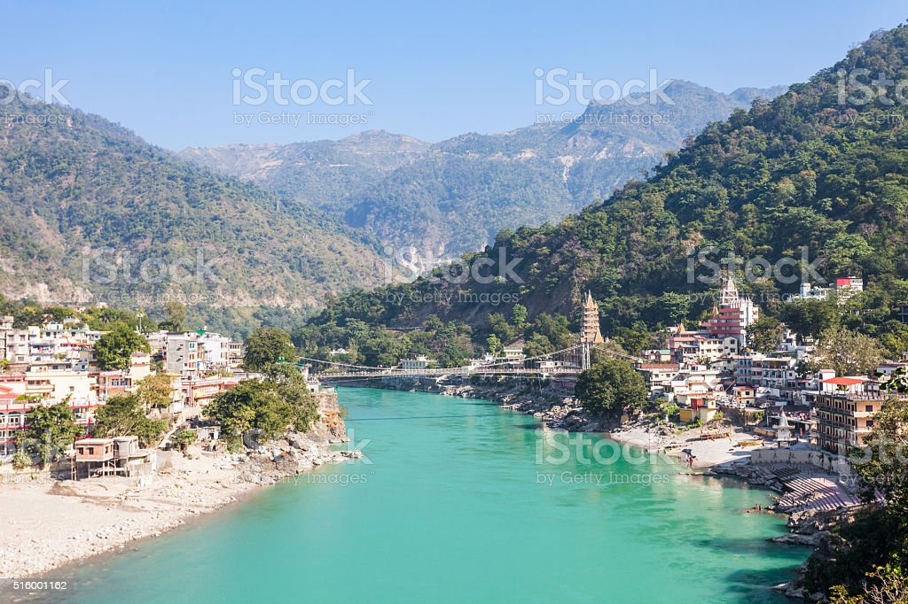 Rishikesh in India stock photo