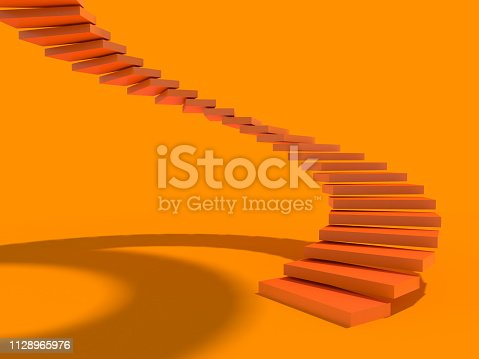 istock Rising arrow on staircase, increasing business. 3D 1128965976