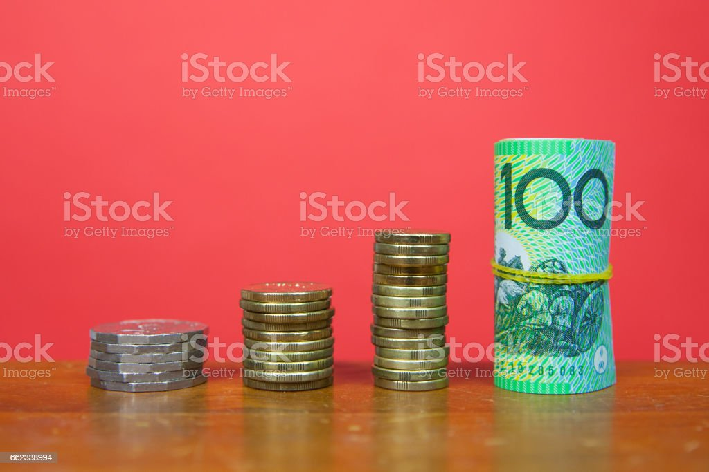 Rising Australian Savings stock photo