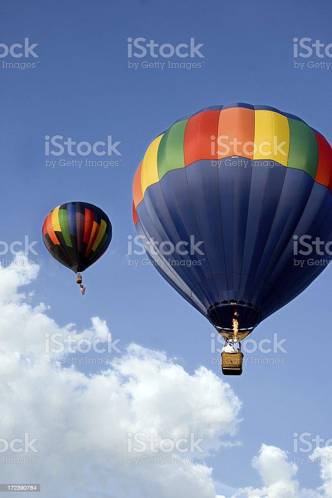 Rising Balloons royalty-free stock photo