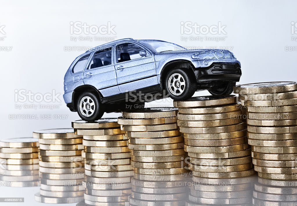 Rising car costs stock photo