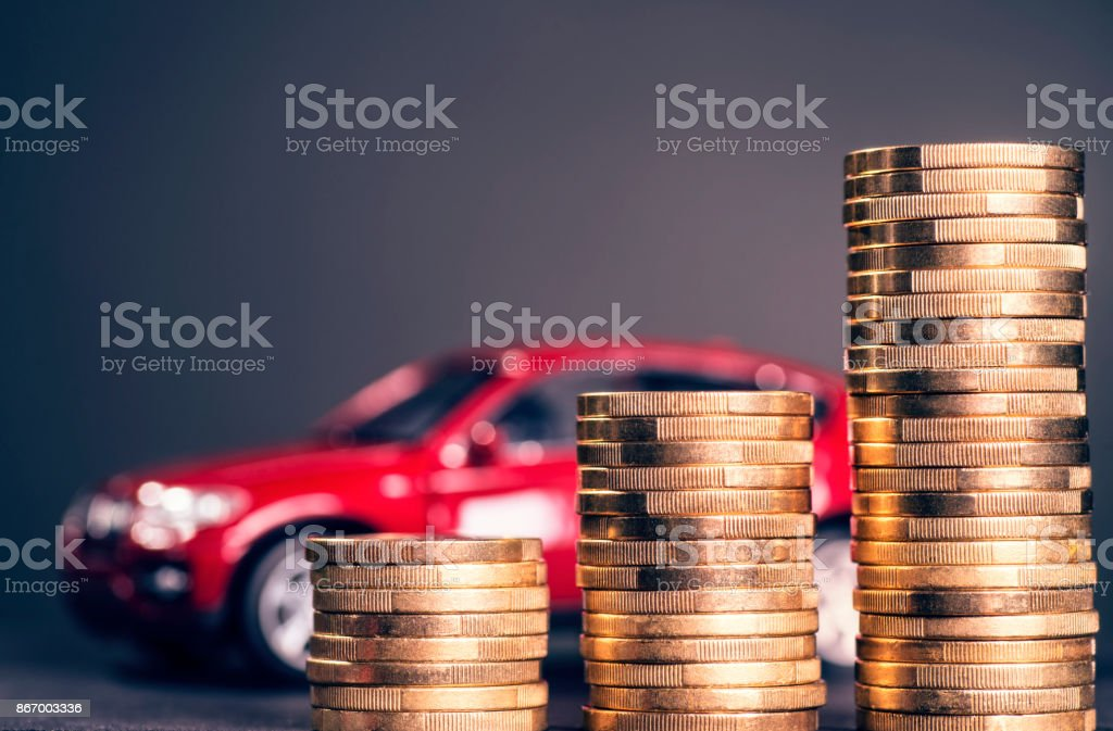 Steigende Autokosten stock photo