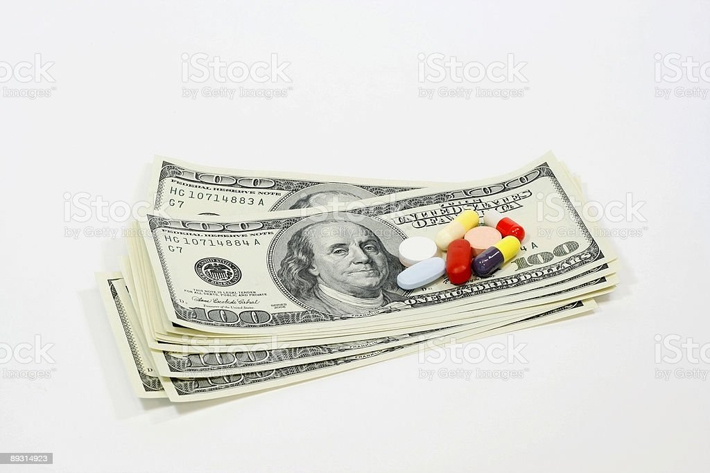 Rising Cost of medicine royalty-free stock photo