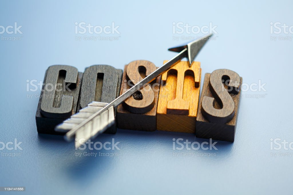 Rising Costs stock photo