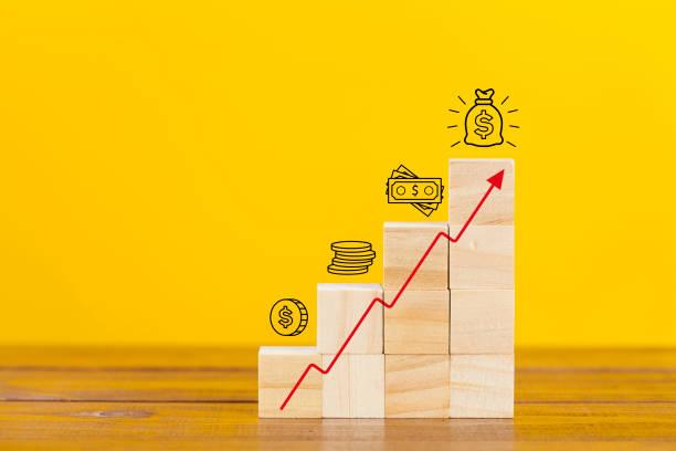 Steigende Einkommen-Diagramm – Foto