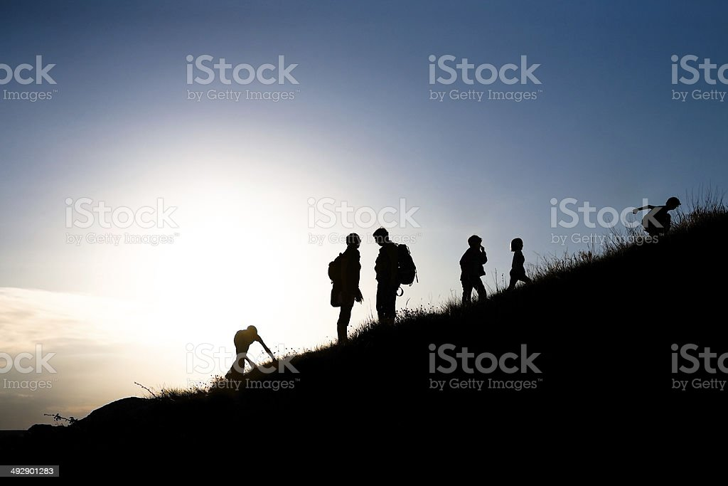 Rising family stock photo
