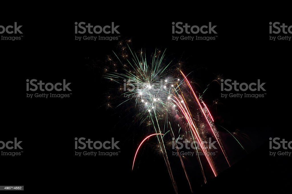 rising firework stock photo