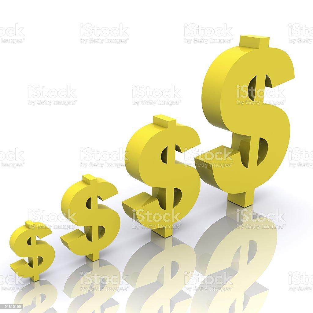 Rising Fortunes (Dollar) royalty-free stock photo