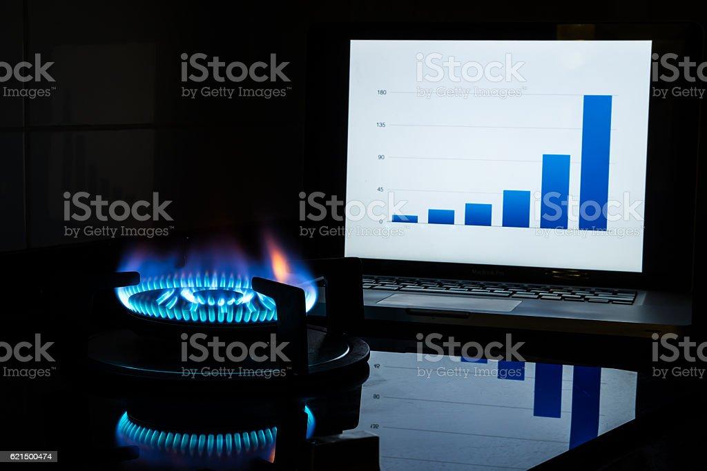 Aumento del costo carburante foto stock royalty-free