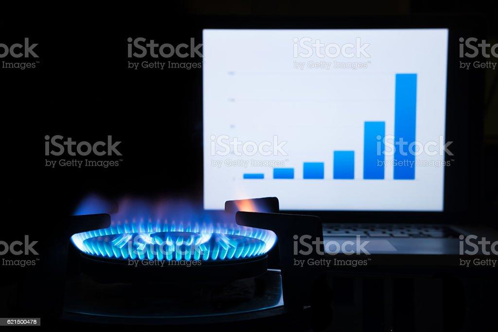 Rising le coût du carburant photo libre de droits