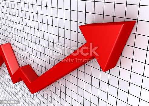istock Rising graph with grid 939038972