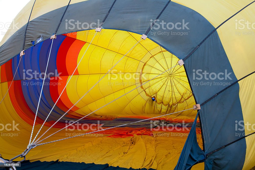 rising hot air balloon royalty-free stock photo