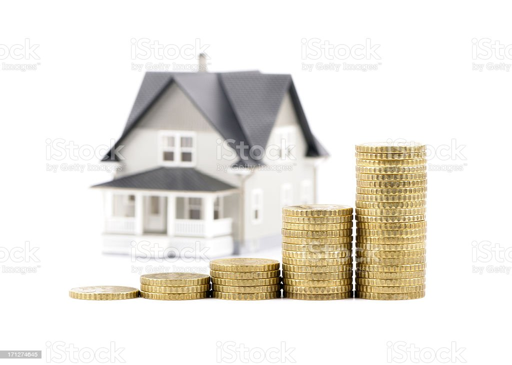 Rising house prices stock photo