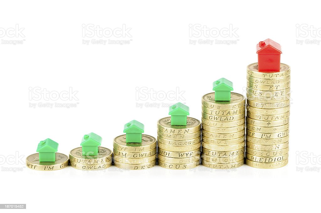 Rising house prices royalty-free stock photo