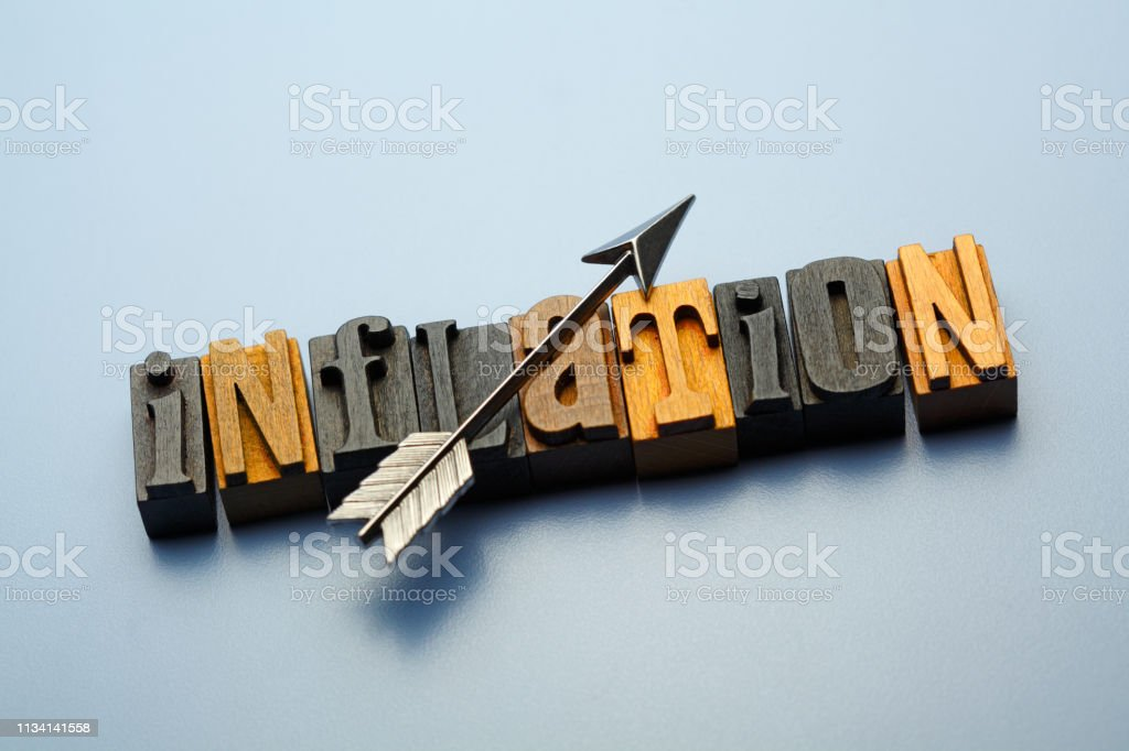 Rising Inflation stock photo
