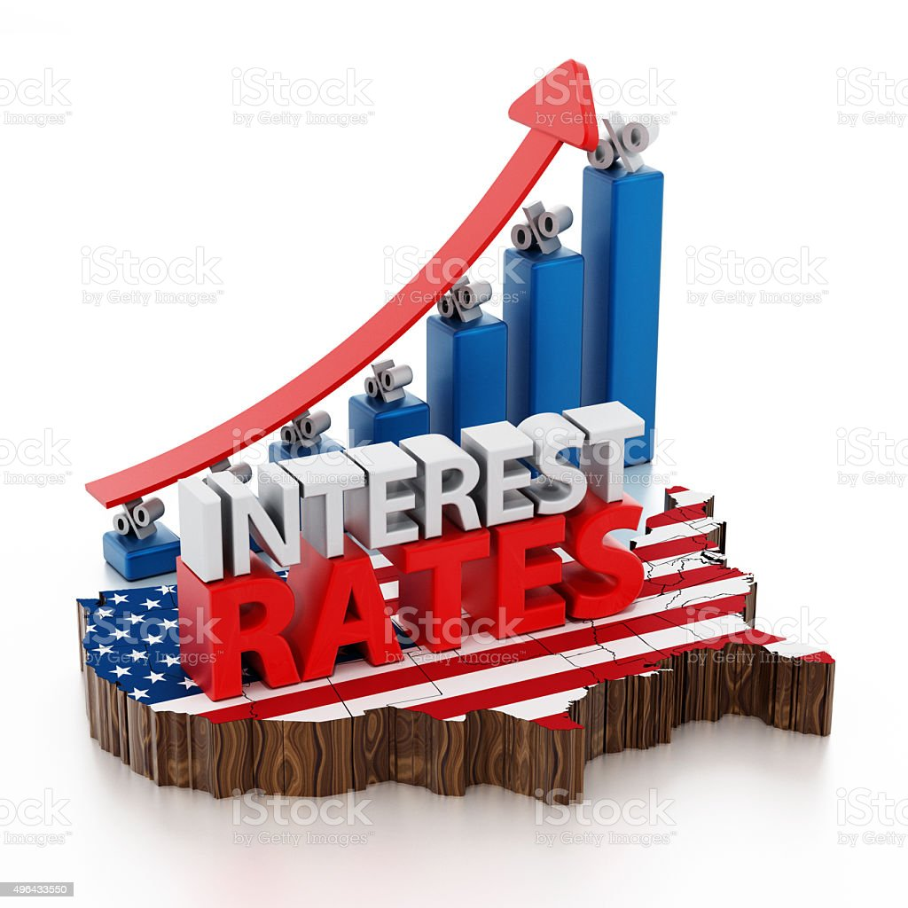 Rising interest rates stock photo