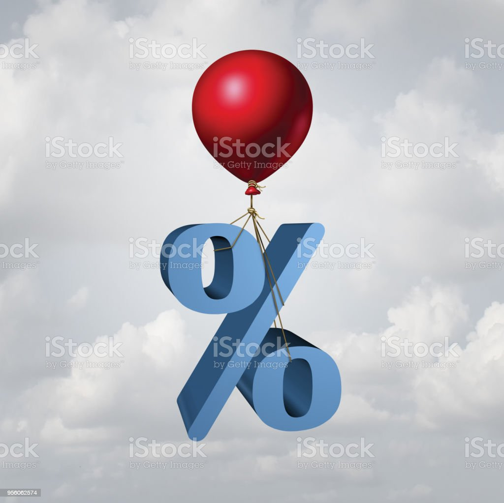 Rising Interest Rates royalty-free stock photo