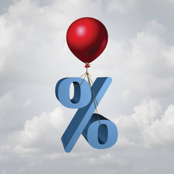 rising interest rates - interest rate stock photos and pictures