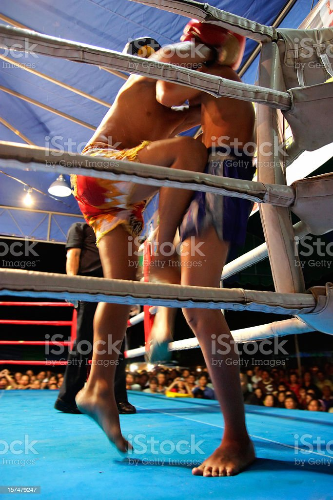 Rising Knee-strike royalty-free stock photo