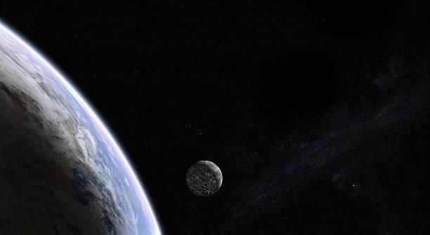 Rising Mond im Raum – Foto