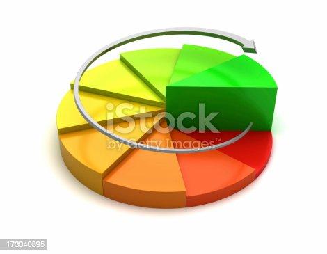 istock Rising Pie Chart 173040895
