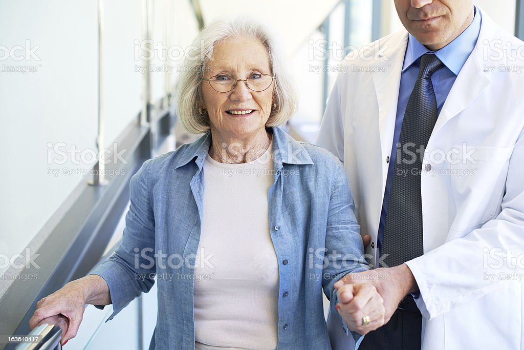 Rising spirits as her health improves royalty-free stock photo