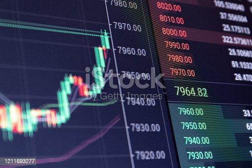 istock Rising stock market concept 1211693277