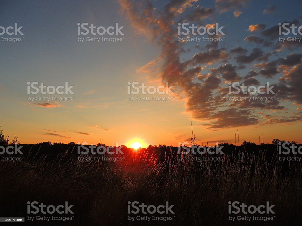 Rising Sun stock photo