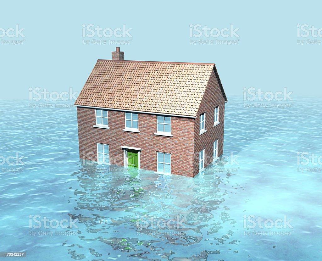 Rising tides/floods/global warming stock photo