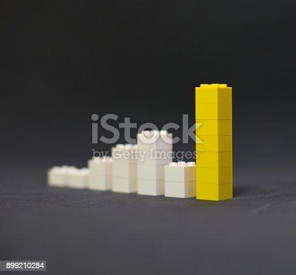 istock Rising value graphic yellow 899210284