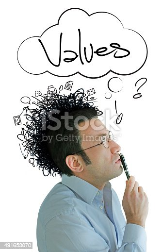 861553788 istock photo Rising Values Idea and Crazy Businessman 491653070