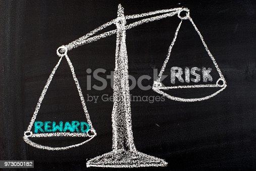 Risk and reward balance on blackboard