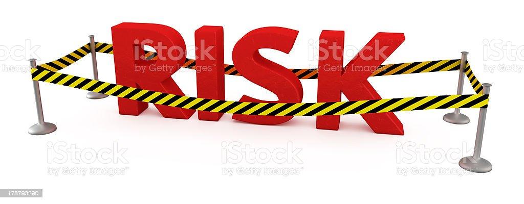 Risk area stock photo