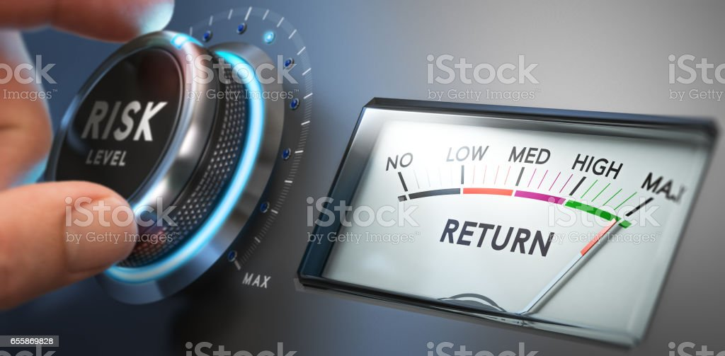 Risk Assessment and High Return stock photo