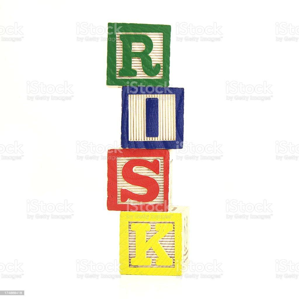 Risk Blocks royalty-free stock photo