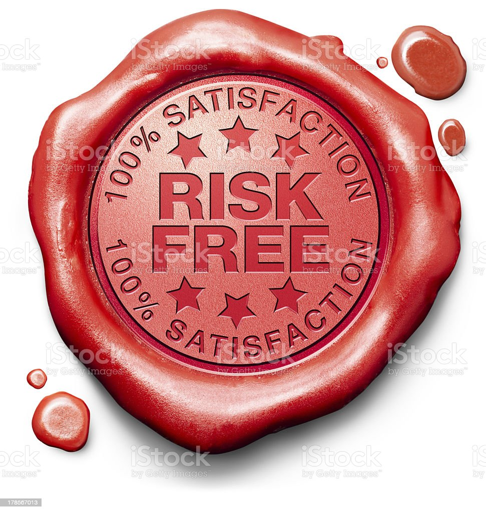 risk free satisfaction stock photo