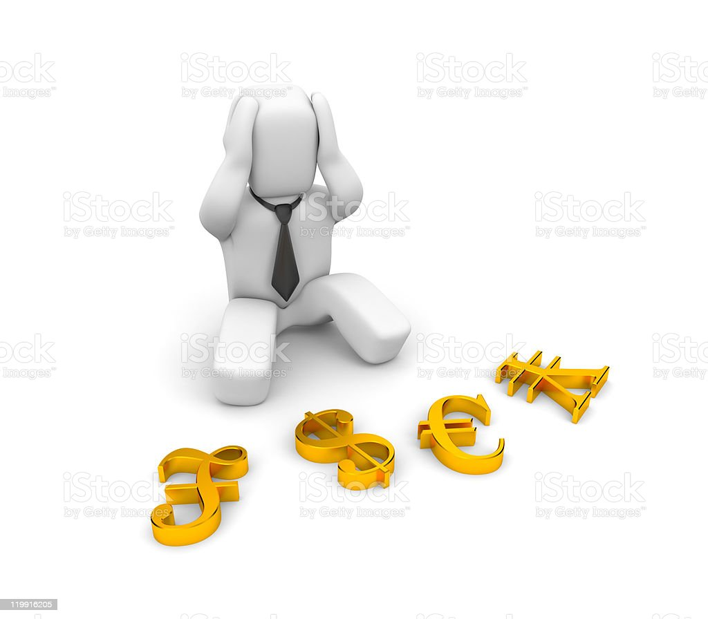Risk in investments. Image contain clipping path royalty-free stock photo