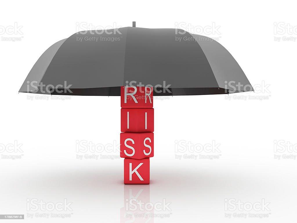 Risk Insurance royalty-free stock photo