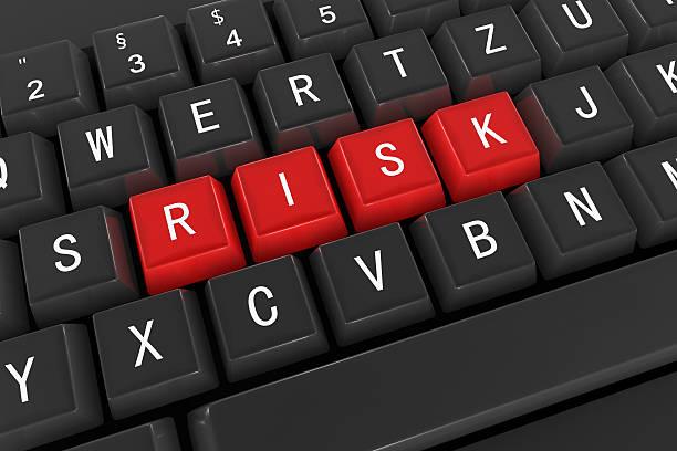 risiko, tastatur konzept - flyer inspiration stock-fotos und bilder